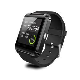 Acheter en ligne Nouvelle u8 bluetooth montre-bracelet à puce-U8 Bluetooth montre Smart Watch Montres de Samsung S4 / Note 2 / Note 3 HTC LG Huawei Xiaomi Android Phone Smartphones 2015 Nouveau