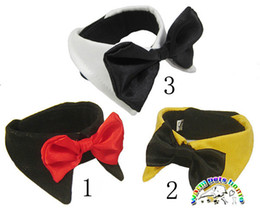 Pet Accessories yellow white black small dog bow ties cotton pet bow tie dog accessories dog grooming supplies SP07