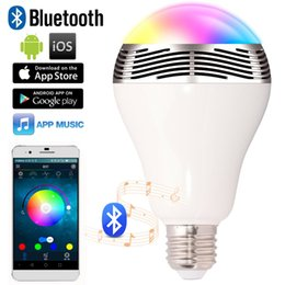 Wholesale BY Bluetooth Color Changing LED Light Bulb with Speaker Bluetooth Smart LED Bulb