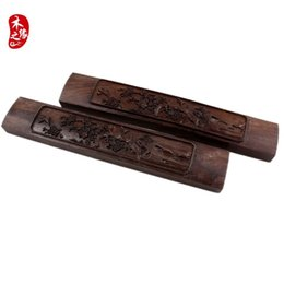 Wholesale Shipping Burma Ebony Wood Paperweight calligraphy paper weight square press paper book wood carving pattern the quot scholar s four jewels quot