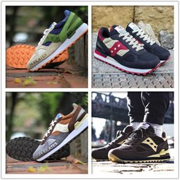 Wholesale with Box Saucony Shadow what men s casual sport running shoes restoring ancient ways jogging shoes size