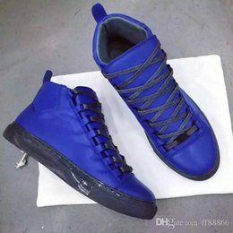 Wholesale The new spring summer High top fashion luxury brand fashionable man lace up shoes for shoes tide men s Designer leisure flat shoes