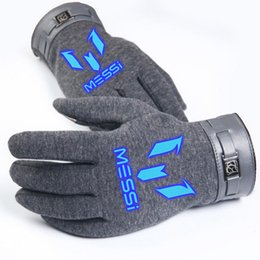Wholesale Barcelona messi sport gloves football star Touch Screen Gloves Iphone Ipad Smart Phone Warm Winter stylus pen Unisex Functional Gloves