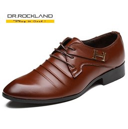 Wholesale 2016 British Style New Comfortable Men s Leather Shoes Fashion Oxford Man Pointed Toe Formal Wedding Shoes Lace Up Male Flats Dress Shoes H