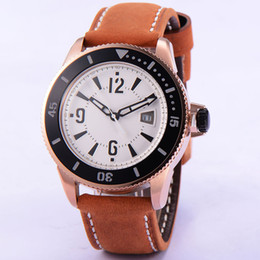 Bliger 43mm Rose Gold Case White Dial Brown Leather Strap Automatic Mechanical Men's Luxury Watch High Quality 1765