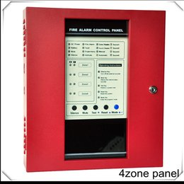 4 Zones Fire Alarm Control Panel Conventional smoke detector system Security Host Fire Flighting Controller FACP