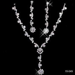 Wholesale Gorgeous Big Discount Unique Wedding Bridal Bridesmaids Rhinestone Black Bracelet Jewelry Set for Party Prom