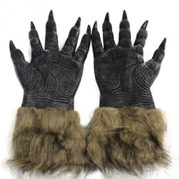 Wholesale New Brand Halloween Werewolf Wolf Paws Claws Cosplay Gloves Creepy Costume Funny Toys