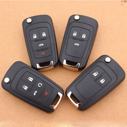 Flip Folding Remote Key Shell for Chevrolet Cruze Remote Key Case Fob Uncut HU100 Blade For Chevrolet 2 3 4 5 Buttons