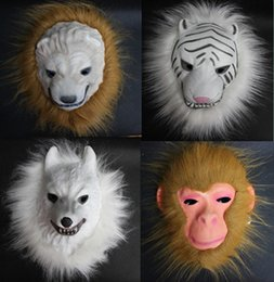 Wholesale 2017 new factory direct EVA animal masks flash lions tigers monkeys wolves Halloween Mask