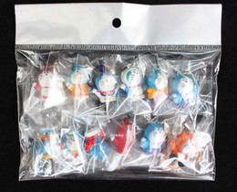 Anime Doraemon Cell Phone Charm Strap with PU rope Figure PVC Mobile phone straps 120pcs lot Birthday gift