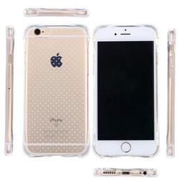 Acheter en ligne Cas transparents pour iphone 4s-Airbag Design Soft TPU Case Transparent Clear Anti-choc Protective Cases Pour iphone 4s 6s plus 6 7 plus samsung s7 s7 edge s6