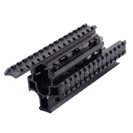 Wholesale AMD Tactical Quad Rails Handguard Picatinny Rail Forend Drop in RIS Quad Rail Hunting Accessories for and variants handguard hunting