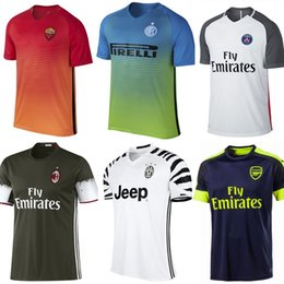 Wholesale New RD Soccer Jersey Paris Rome AC Milan Inter Milan Arsenal Juventus rd Jersey Third Football Shirt Thai Quality Shirt