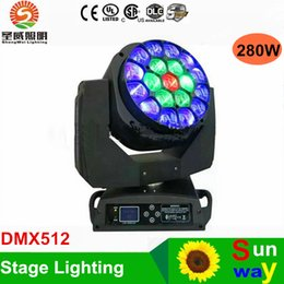 Promotion rgbw conduit faisceau mobile de la tête DMX512 LED BEAM Moving Head Yeux Bee 19 X 15W RGBW 4 en 1 LED B-Eye 19 K10 Stage de lumière