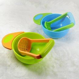 Wholesale manual baby food mills fresh foods Mash Serve Bowl infant baby fruit jars tools PP saftey materical grinder bowls