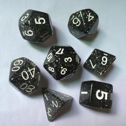 7 Sided Die D4 D6 D8 D10 D12 D20 DUNGEONS&DRAGONS RPG Poly Dice Game Black