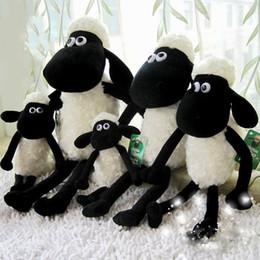 Wholesale EMS FREE stuffed animals black sheep plush toys cm Shaun the sheep cute soft plush dolls small sheep toys gifts