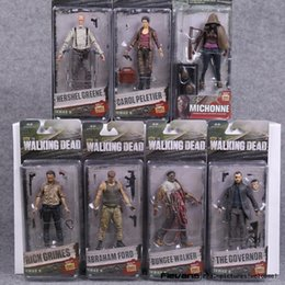 Wholesale AMC TV Series The Walking Dead Abraham Ford Bungee Walker Rick Grimes The Governor Michonne PVC Action Figure Model Toy Styles