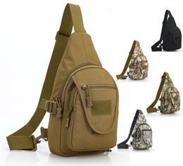 Wholesale Hot models men and women tactical camouflage shoulder bag chest bag handbag outdoor sports Messenger bag leisure backpack