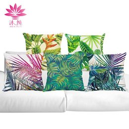 muchun Brand Tropical Plants Christmas Cotton&Linen Thicken Pillow Cover Square Halloween Party 45*45cm Home Decorative Pillow Case