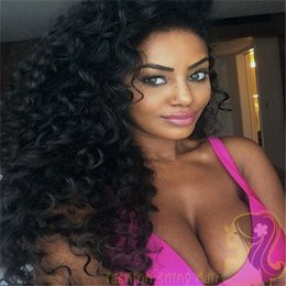 For Black Women Lace Front Malaysian Hair Wigs Kinky Curly Glueless Full Lace Human Hair Wigs 150% Density Bleached Knots