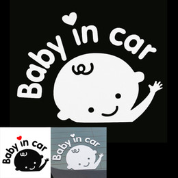 Wholesale 3D Cartoon Stickers Reflective Vinyl Styling Baby in Car Warning for Rear Windshield Baby on Board On Rear Windshield CEA_30W