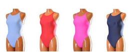 Red Plain Lycra Spandex Zentai Bodysuit Leotard One-Piece Swimsuits, Unisex