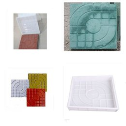 Wholesale ccessories pc New DIY Square Garden Path Concrete Plastic Brick Mold Paving Propylene Pavement Walkway x27x4cm Garden Buildings Accesso