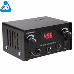 Wholesale BJT Powerful Digital Dual iron Steel Tattoo Power Supply for tattoo machine tattoo guns