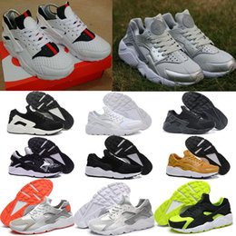 Wholesale 2016 New Air Huarache Run light Breathable Sneakers Men Women White Black Red Pink Grey Colors Casual Running Shoes with Original Box