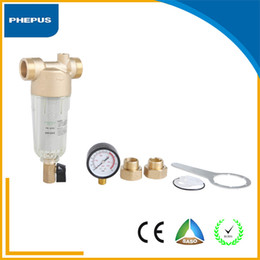 Wholesale PHEPUS House use good quality stainless steel brass water filter backwash sediment big flow pre filter Water Treatment ang