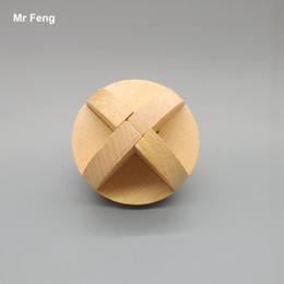 Traditional Wooden Intelligent Puzzle Lu Ban Ball Lock Toy Adult Children