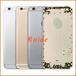 Wholesale For iPhone S Back Cover Housing Middle Frame Bezel Chassis Aluminum Metal Battery Door Cover For iPhone S free shopping DHL EMS