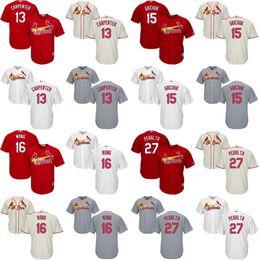 Wholesale Youth Matt Carpenter Randal Grichuk Kolten Wong Peralta Authentic St Louis Cardinals kids Baseball Jersey stitched size S XL