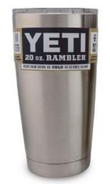 Wholesale 1pcs YETI oz Cup Cooler YETI Rambler Tumbler For Travel Vehicle Beer YETI Mug Tumblerful Bilayer Vacuum Insulated Stainless Steel