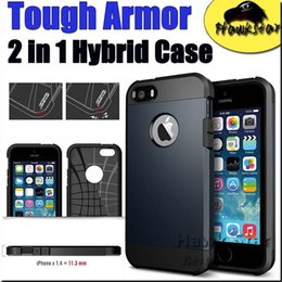 Wholesale Tough Armor Case for Iphone se s Plus Samsung S6 S7 EDGE note Heavy Duty Dual Layer EXTREME Protection Cover Heavy Duty