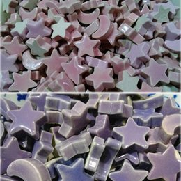 Wholesale 100pcs Ceramic star moon beads Mosaic tile Scramble tiles Porcelain mosaic Mosaic arts Mosaic crafts Ceramic art