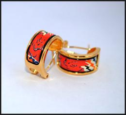 Rose Series Hoop earring 18K gold-plated enamel earrings for woman Top quality hoop earrings designer jewelry