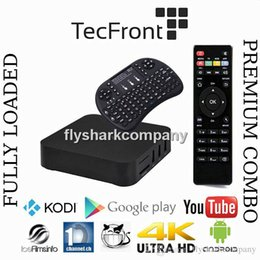 Wholesale MXQ tv box amlgic s805 android quad core With XBMC KODI Fully Loaded MXQ TV Box RII I8 Mini Wireless Keyboard Fly Air Mouse White Black