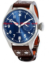Wholesale Top Quality Luxury Wristwatch Big Pilot Midnight Blue Dial Automatic Men s Watch MM Mens Watch Watches