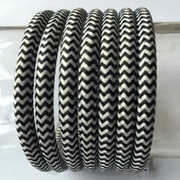 Wholesale mm Vintage Braided Fabriclamp Wire DIY antique Textile braided Cable Retro pendant lamp flex Cord