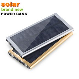 Wholesale Ultrathin Dual USB mah Waterproof Solar charger Portable Solar Charger Power Bank External Battery for Phone