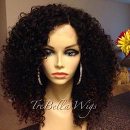 2017 resistente para el cabello de calor Calidad superior de calor sin cola peluca sintética del frente del cordón Afro rizado pelucas sintéticas rizadas resistentes con el pelo del bebé para las mujeres negras resistente para el cabello de calor outlet