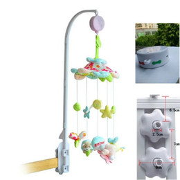 New update musical Bed Bell Mobile crib set Baby birthday gift toys bed bell with stand and toys