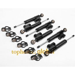Wholesale CNC Motorcycle Accessories Steering Damper Stabilizer Linear Reversed Safety Control Black For Honda Suzuki Yamaha Kawasaki