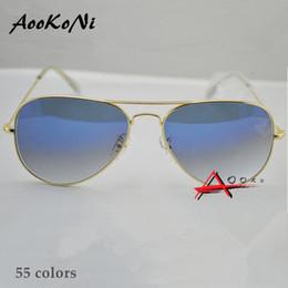 Wholesale Hot Sale Gafas Gradient Gray Blue Brown Style Mirror glass Sun Glasse oculos de sol FEMININO UV400 Men Women Sunglasses mm mm with case