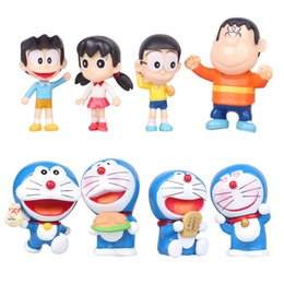 Wholesale Cute Birthday Doraemon - 2016 New 8pcs set 6-8CM Anime cartoon Cute Doraemon Mini PVC action Figure Model Toys Dolls Birthday new year Gifts
