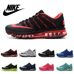2016 Shoes Run Air Max Nike Air Max 2016 Flyknit KPU Men's & Women's Running Shoes 100% Original New Product Hot Sale Breathable Outdoor Sneaker Eur:36-47 discount Shoes Run Air Max