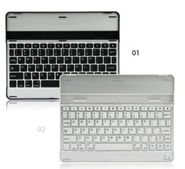 Wholesale Apple IPAD aluminum alloy Bluetooth keyboard for ipad234 universal aluminum alloy Bluetooth Keyboard with retail packaging